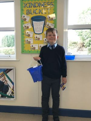 6th September 2019 - Our first winner from the kindness bucket is our new P6 pupil Matthew McAllister. Matthew was nominated by another pupil for being kind when he brought in mars bar buns for all of his new classmates this week.